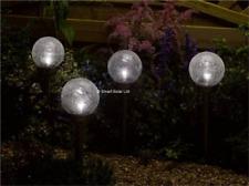 Smart Solar Outdoor Crackle Globe Single Stake Light