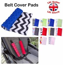 Baby Pram Pushchair Stroller Buggy Car Seat Belt Cover Pads Minky Two Sided