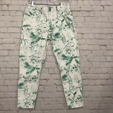 Lucky Brand Women's Jeans Lolita  Style Crop Size 10/30 Low Rise/ Green Print