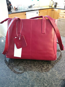 Jobis Leather Bag - Berry (Red) - J61007 - BRAND NEW