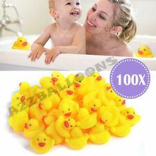100 x Mini Rubber Ducks Kids Baby Bath Water Bathtime Play Toy High Quality Bulk
