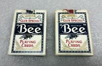 Vintage Lot 2 Bee Casino Playing Cards Decks Complete w/ Casino Label EX Shape
