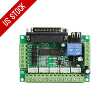 US Ship 5 Axis MACH3 CNC Breakout Board Interface for Stepper Motor Driver