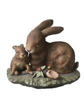 1979 Masterpiece Porcelain Homco Home Interiors Rabbits Bunny Bunnies Figurine