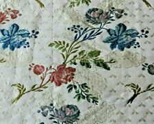 "Rare Stunning French Antique 18thC Silk Rose Brocade Fabric~L-39"" X W-20"""