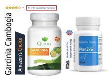 Phen375 + 100% Pure GARCINIA CAMBOGIA 95% HCA Diet Pills Weight Loss Fat Burner