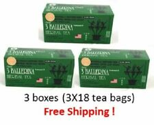3 Ballerina Tea Dieters Drink Extra Strength 4 boxes x 18 teabags