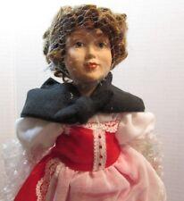 "Danbury Mint Porcelain Doll 10"" Storybook ""Heidi"""