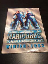 Super Mario Bros. 1993 Trading Cards Single Card 100 'WINTER 1993) Fair Cond.