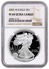 2002-W 1 Oz Proof American Silver Eagle NGC PF69 UC SKU16144