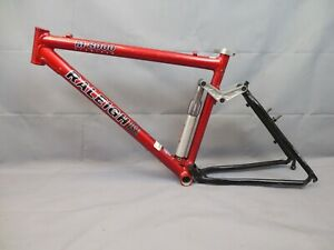 "Raleigh M8000 Vintage FS MTB Bike Frame 18"" Large Softtail Cant USA Made Charity"