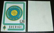 N°266 BADGE SVERIGE WM74 RECUPERATION PANINI FOOTBALL MÜNCHEN 74 MUNICH 1974