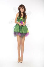 Femmes Tinkerbell Pixie Woodland Fée Halloween Costume Déguisement Cosplay 8 10
