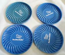 4 Vintage Hard Plastic Blue Coors Light Coasters - The Silver Bullet 3 Inch