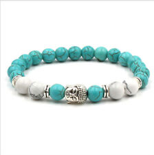 New Agate Turquoise Stone Fashion Bracelets Healing Beaded Charm Men's Bracelets