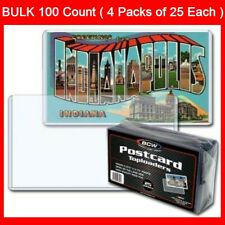 Postcard Sleeves Topload Holders 5 7/8 x 3 3/4 BCW Rigid Protector Bulk 100 Ct.