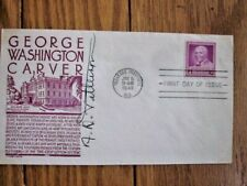INVENTOR GEORGE WASHINGTON CARVER TUSKEGEE INSTITUTE PM SIGNED ANDERSON CACH FDC