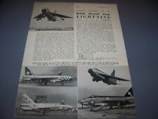 VINTAGE..B.A.C. LIGHTNING F...5-VIEWS/CROSS SECTIONS/PHOTOS...RARE! (374E)