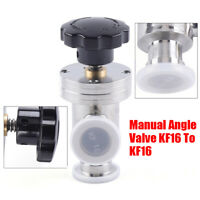 Stainless Manual Air L-Type Vacuum Angle Isolation Valve KF16 Flange FittingBest