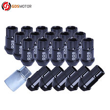 20pcs Black 44MM Extended Tuner Wheel Lug Nuts Bolts M12X1.5 For Ford Toyota KIA