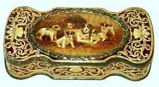 English Queens Royalty Cadbury Terrier Dog Chocolate Tin 1910s