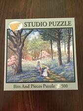 "Blue Belles 16"" x 20""  500 piece  Bits & Pieces  John Sloane House Trees Girls"