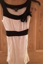 Chicas top negro y blanco Talla 11-12