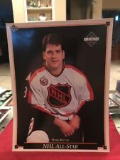 92-93 upper deck hockey 8x10 card mark recchi