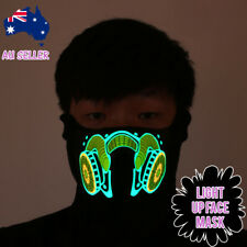 Biker Mask Raver Light Up Party Festival Dance Halloween Balaclava Costume