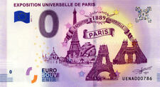Exposition Universelle de Paris, 1889, 2019, Billet 0 € Souvenir