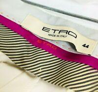 Sz 8 Etro Milano Spa Via Spartaco Italy Womens Pants Cream/White 32/29 Italy 44