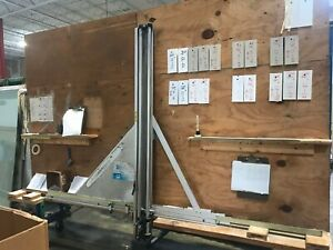 Fletcher 3000 Cutter mounted on Movable Rack for Easy Transfer