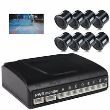 8 Parking Sensor Video Visible Car Vehicle Front and Reverse Backup Radar System