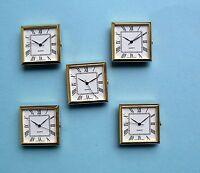 5 x 31mm square gold  BEZEL Quartz watch inserts