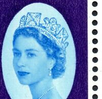 1962 Sg 632 3d NPY Row of Dots from Queen's Left Eye to Hair Minor Flaw MM
