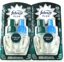 2 Count Febreze Plug 0.87 Oz Limited Edition Fresh Cut Pine Scented Oil Refill