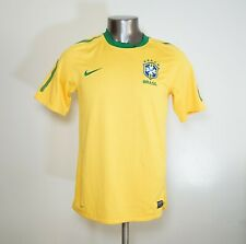 Nike Men's Brazil National Team 2010-2011 Home Yellow Soccer Jersey Size M
