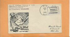 U.S.S. HENRY KENYON AUG 9,1946 SAILORS MAIL FREE CANCEL NAVAL COVER