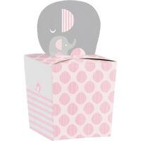 Little Peanut Pink Elephant Favor Boxes [8ct] Baby Shower Party Favors Supplies
