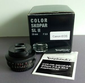 Voigtlander Color Skopar 20mm F3.5 SL 2 Aspherical EF Mount Lens