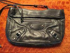 Balenciaga black leather clutch cos