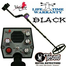 Tesoro Vaquero Black Limited Edition Metal Detector with Deep Seeking DD Coil