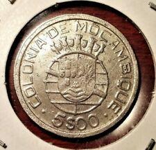 Mozambique 5 escudos 1949 coin (SILVER!) #2