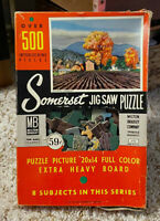 Vintage Somerset Jig Saw Puzzle COUNTRY HARMONY Milton Bradley 500+ Pieces 4740