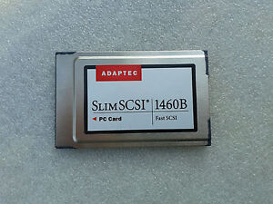 Adaptec Slim-SCSI 1460B 1680800-A Fast-SCSI PCMCIA Card, Centronics 50-pin cable