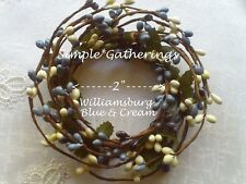 """WILLIAMSBURG BLUE CREAM MIX 2"""" Pip Berry Candle Ring Cottage Country Crafts"""