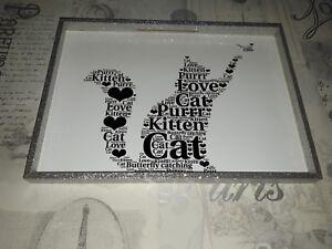 CAT Word Art Print Birthday Gift Cat Lover Present Idea christmas gift