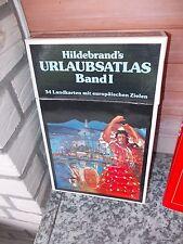 Hildebrand's Urlaubsatlas Band I, 34 Landkarten mit europäischen Zielen.