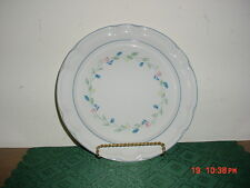 "2-PC ""FLORAL EXPRESSIONS"" 10 3/4"" DINNER PLATES/NO CTR FLOWER/WHT-BLU/CLEARANCE!"