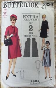 Butterick Quick & Easy Pattern 3336 One Piece Maternity Dress Size 14 Bust 34